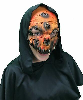 l- SALE! PUMPKIN HALF MASK - One Size Only (Halloween Scary Pumpkin Maske)