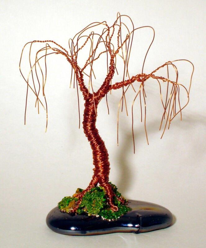 Chinese Glass Miniature Trees