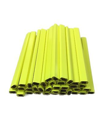 Pencil Boxes In Bulk (Flat Wooden Neon Yellow Carpenter Pencils - 72 Count Bulk Box Made In The)