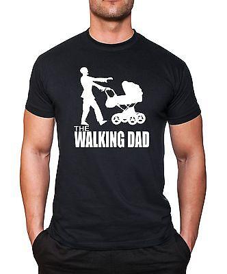 Walking Dad T-Shirt Papa Dad Herrentag Vatertag Fun Vater Baby Zombie Sprüche