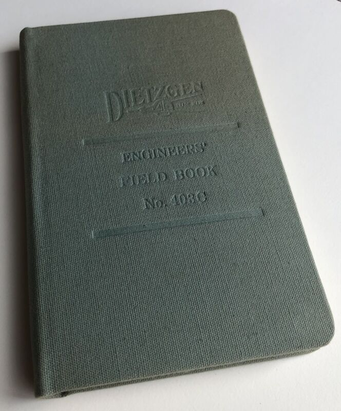 Vintage DIETZGEN No. 403C Engineer Field Note Book 80 Pages 100% Rag Paper USA