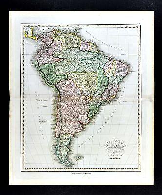 1814 Dr. Playfair Map by Neele - South America - Brazil Rio de Janeiro Argentina
