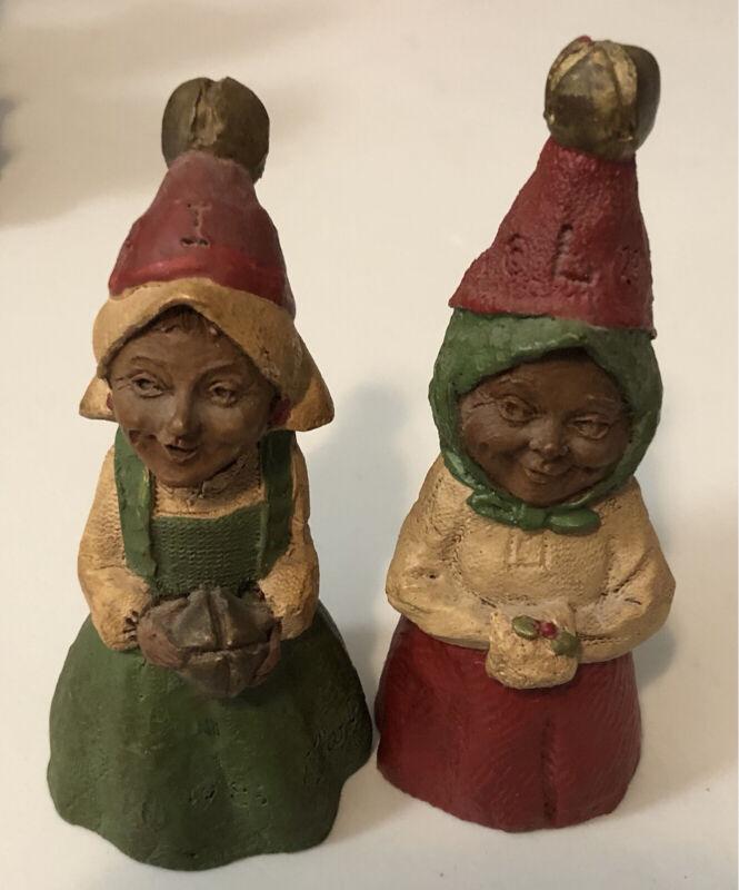 Tom Clark Gnome Lot of 2 J-I-N-G-L-E (I and L) Jingle Bells Christmas