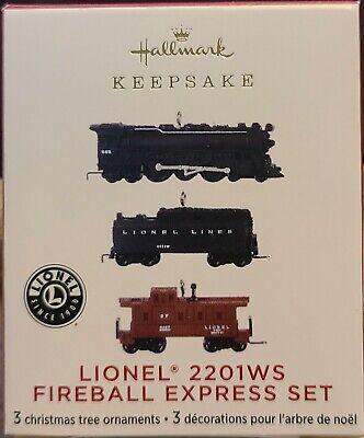 HALLMARK 2020 LIONEL 2201WS FIREBALL EXPRESS SET--MINI