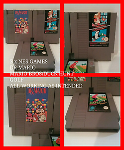 3 x SNES GAMES DR MARIO, MARIO BROS / DUCK HUNT, GOLF  All tested Lindisfarne Clarence Area Preview