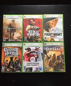 6 Jeux Xbox 360