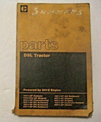 Vintage 1980 Caterpillar D9l Tractor Parts Book Mining Construction Road Work