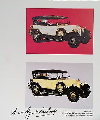 ANDY WARHOL HAND SIGNED SIGNATURE * CARS SERIES *  1986 PRINT  W/ C.O.A.