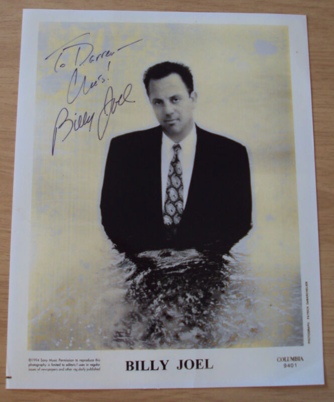 """1994 Sony Music AUTOGRAPHED Photo~""""BILLY JOEL""""~"""