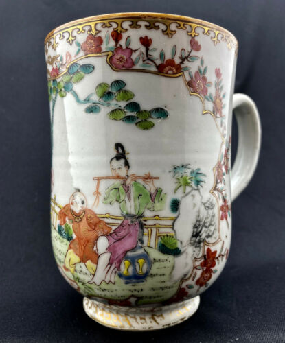 Chinese Export Porcelain European Bow Mug Qianlong c.1765
