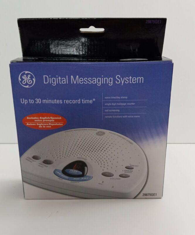 GE Digital Messaging System English+Spanish Answering Machine 29875GE1 Used