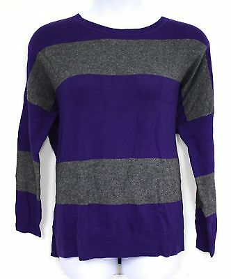 Cashmere Striped Jeans (Ralph Lauren Jeans Sweater Purple Gray Grey Striped Lambswool Cashmere Blend New )