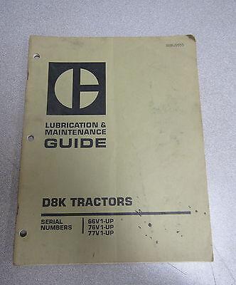 Caterpillar Cat D8K Tractors Lubrication & Maintenance Manual 66V 76V 77V 1978 segunda mano  Embacar hacia Argentina