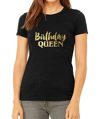 Bella Canvas Birthday Queen Shirt Bday Girl T-Shirt Gift For Her Funny Party ()