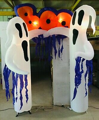 9ft Gemmy Airblown Inflatable Prototype Halloween Boo Ghosts Archway #57465
