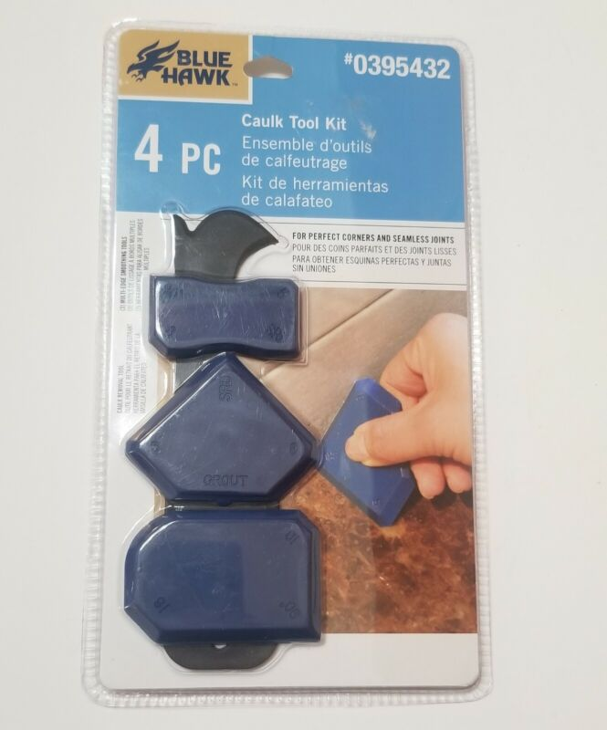 Blue Hawk 4-Pack Caulk Removing Smoothing Tool For Corners & Seamless Joints