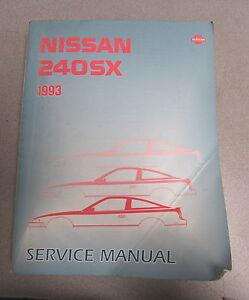 nissan 240sx repair manual ebay rh ebay com 1991 nissan 240sx service manual 1991 nissan 240sx repair manual