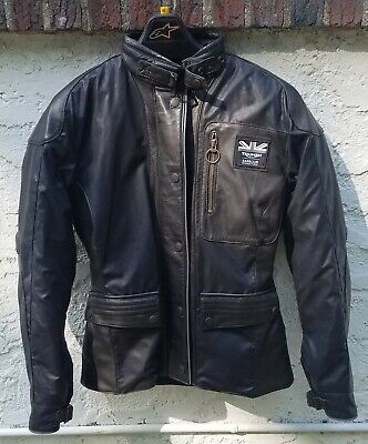 Women's Triumph Barbour Leather and Fabric Motorcycle Riding Jacket (XS/small) Cloth Riding Jacket