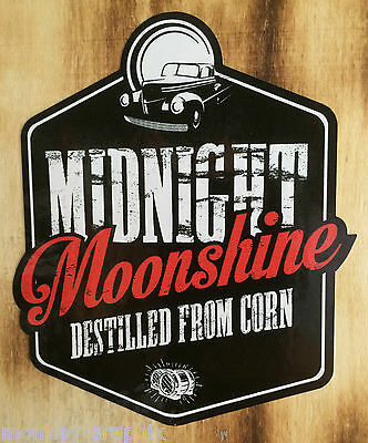 Oldschool Sticker Decal Midnight Moonshiners Whiskey Usa Silent Uninstall