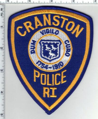 Cranston Police (Rhode Island) 4th Issue Blue Background Shoulder Patch