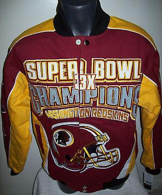 Washington Redskins Ultimate 3 Time Super Bowl Championship Cotton Jacket
