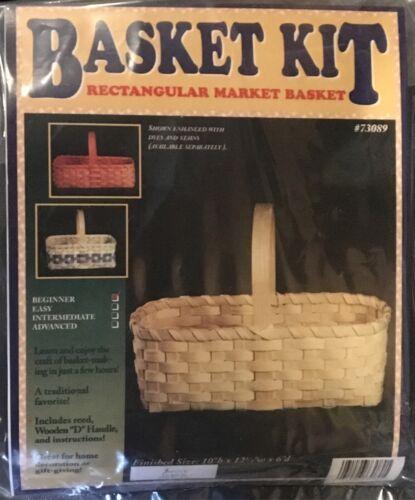 Beginner Rectangle Market Basket Making Kit, Weaving, Supplies, Reed, Pattern