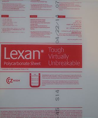 Qty 1 Lexan Polycarbonate Clear Sheet 18x10x12 Nominal Size - Uv Protected
