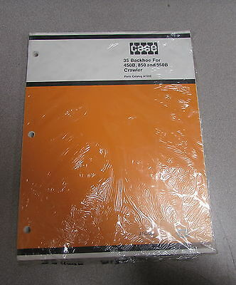 Case 35 Backhoe 450b 850 850b Crawler Parts Catalog Manual A1359 1979