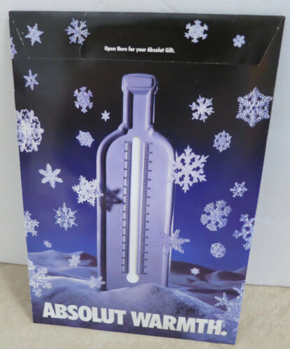 ABSOLUT VODKA DKNY GLOVES FROM THE 1994 ABSOLUT WARMTH AD CAMPAIGN NEW SEALED
