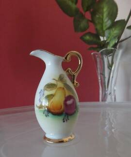 Vintage Miniature Pitcher Hand Painted Ewer Porcelain Mixed Fruit Greenwood Joondalup Area Preview