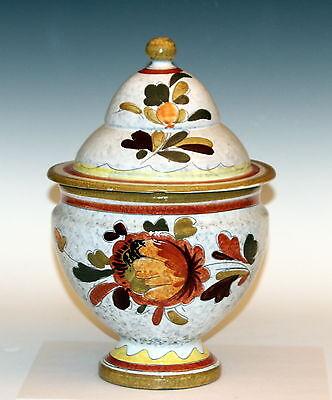 - Vintage Mancioli Italian Art Pottery Biscuit Covered Cookie Jar Urn Raymor 12