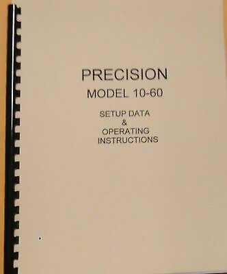 Precision 10-60 Instruction Manual Tube Setup Data Schematic
