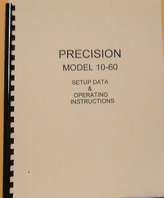 Precision 10-60 Instruction Manual Tube Setup Data Schematic