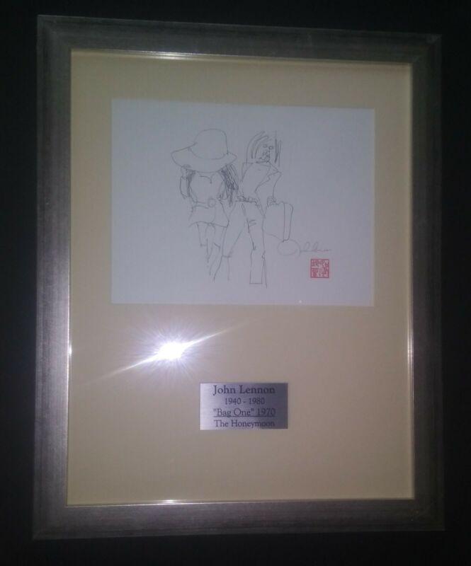 Beatles - John Lennon BAG ONE Art Print Display -The Honeymoon