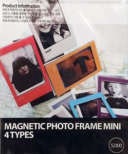 4 Mini magnetic polaroid fridge photo picture frames