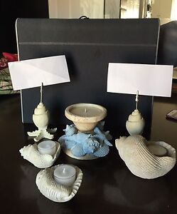 Beach tea light/picture holders