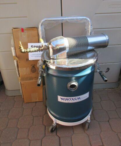 NORTECH Vacuum System Model 151SC Rolling Cart w/ Hose, Paperwork & Attachments
