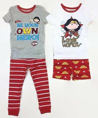 Wonder Woman Be Your Own Hero Cotton 2-Pack Pajamas for Toddlers Girls DC Comics (Toddler Wonder Woman Pajamas)