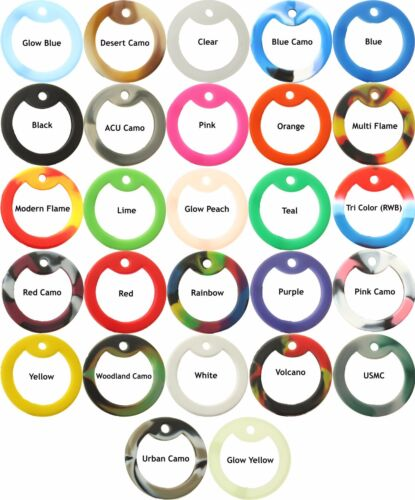 10 Pack Military Rubber Dog Tag Silencers - Choose any colors!