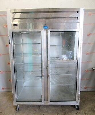 Randell 2021 Reach In Double Glass 2 Door Commercial Refrigerator 80x57