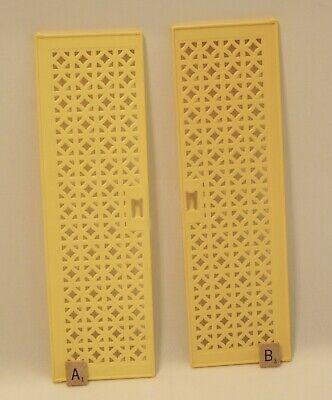 Vintage 1979 Barbie Dream House --- 2 Tall Yellow Plastic Doors