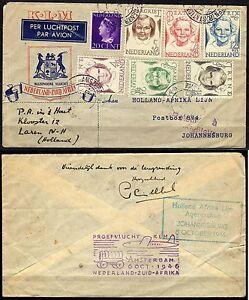 492-Paesi-Bassi-Volo-KLM-da-Amsterdam-a-Johannesburg-Sudafrica-08-10-1946