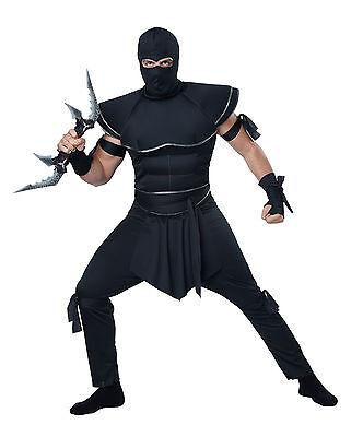 Adult Stealth Ninja Assassin Mens Costume (Ninja Adult Costumes)