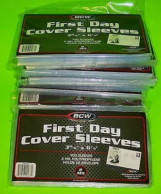 1000 FIRST DAY COVER POLY SLEEVES, FOR #6-3/4 COVERS, BCW BRAND W/ FREE SHIPPING