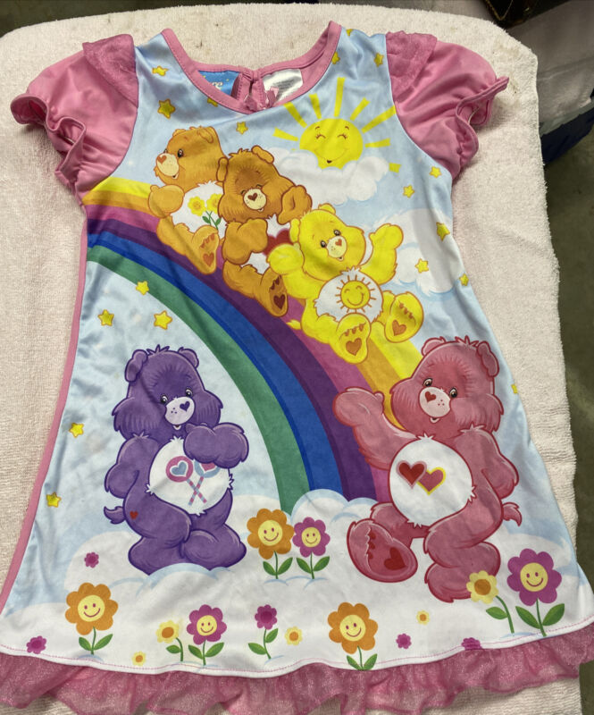Vintage Carebear Nightgown Polyester Size 4T