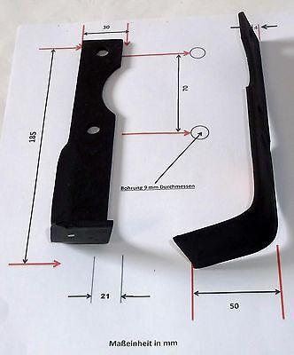 Hackmesser 185x50x21 LINKS für Agria 1250 25497  Fraesmesser 122- 008