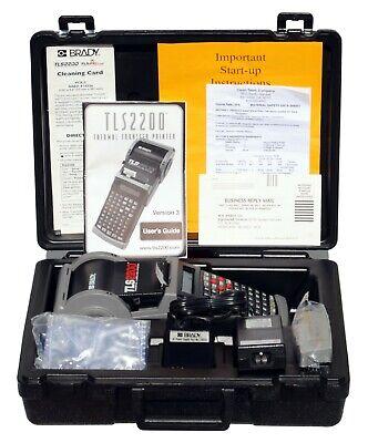 Brady Tls2200 Portable Label Maker Printer Ac Power Supply Case.