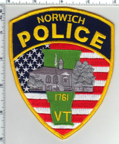 Norwich Police (Vermont) Shoulder Patch from the 1980