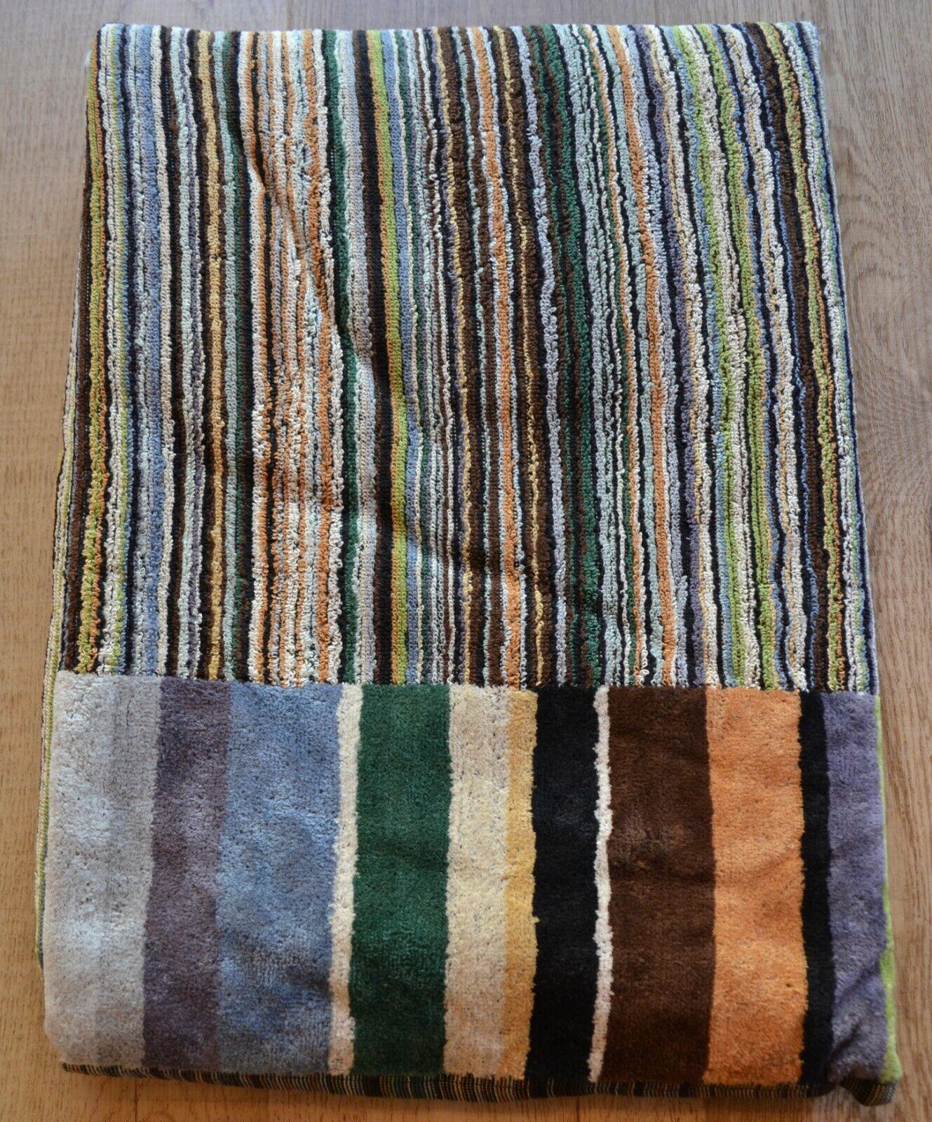 Missoni Home Hans Striped Bath Sheet Towel.  Cotton Terry