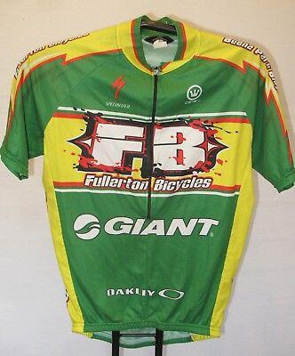 Canari Short Sleeve Cycling Jersey Sz M Giant Bikes Half Zip Fullerton CA  GREEN b0ca11cbe